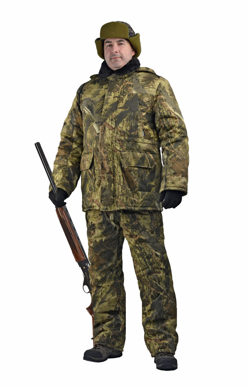 Костюм мужской Нордвиг зимний кмф грета Костюмы утепленные<br>Камуфлированный универсальный костюм <br>для охоты, рыбалки и активного отдыха при <br>низких температурах. Состоит из удлинненной <br>куртки и полукомбинизона. Куртка: • Отстегивающийся <br>регулируемый капюшон. • Воротник меховой <br>• Центральная застежка молния с ветрозащитной <br>планкой на липе. • Накладные объемные карманы <br>с клапанами. • Низ рукава с трикотажными <br>манжетами. • По линии талии - кулиска Полукомбинезон: <br>• Закрывает грудь и спину. • С центральной <br>застежкой на молнии • Два боковых накладных <br>объемных кармана с клапанами. • Бретели <br>регулируемые эластичной лентой. • Талия <br>регулируется эластичной лентой.<br><br>Пол: мужской<br>Сезон: зима<br>Цвет: серый каштан (фотокамуфляж)<br>Материал: Смесовая Грета (50% хлопок, 50% полиэфир) пл.
