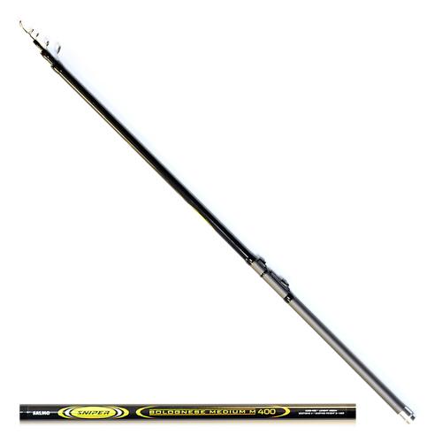 Удилище Поплавочное С Кольцами Salmo Sniper Удилища поплавочные<br>Удилище попл. с кол. Salmo Sniper BOLOGNESE MEDIUM M 4.00 <br>дл.4.00м/тест 3-15г/строй M/250г/4секц./дл.тр.120см <br>Телескопическое удилище среднего строя <br>из композита. Верхнее колено имеет дополнительное <br>разгрузочное кольцо, бланк укомплектован <br>кольцами со вставками SIC с креплением на <br>одной ножке. • Материал бланка удилища <br>– композит • Строй бланка средний • Конструкция <br>телескопическая Кольца пропускные: – дополнительное <br>разгрузочное – со вставками SIC • Рукоятка <br>с противоскользящим покрытием • Катушкодержатель <br>быстродействующего типа CLIP UP<br><br>Сезон: лето