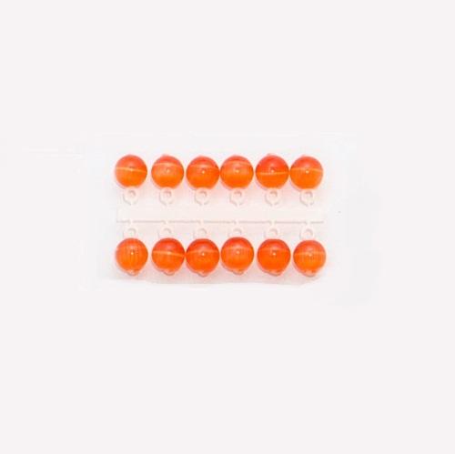 Подвес-Серьга Микро-Бис Кошачий Глаз Оранж • 4Мм К 6Шт. 64-131