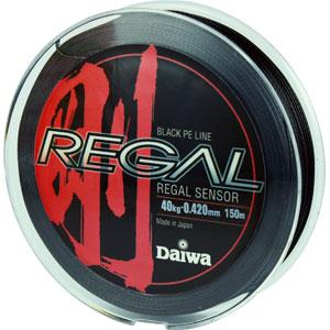 Леска Daiwa Regal Sensor 40-150Леска плетеная<br>Плетеный шнур с большим запасом прочности, <br>и максимально круглым сечением.<br>