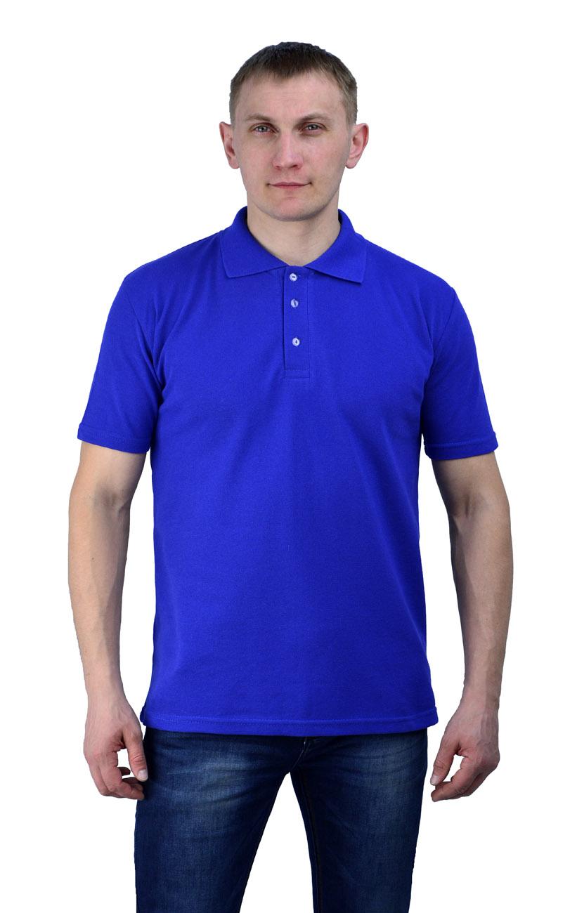 Рубашка-поло васильковая (XXXL(56))Поло<br>- прямой силуэт - короткий рукав с манжетой <br>- застежка-планка на две пуговицы в цвет <br>Рекомендуется использовать как дополнительный <br>элемент рабочего костюма,в качестве офисной <br>одежды. пл.200 г/м2<br><br>Пол: мужской<br>Размер: XXXL(56)<br>Сезон: лето<br>Цвет: синий<br>Материал: 100% хлопок