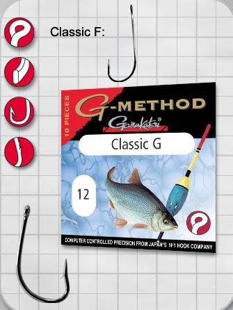 Крючок GAMAKATSU Method Allround Classic G №12 (10шт.)Одноподдевные<br>Классический многофункциональный крючок <br>для общих условий ловли.<br>