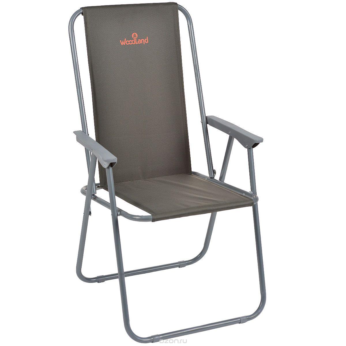 Кресло Woodland Relax, складное, кемпинговое, Стулья, кресла<br>Материал: Сталь ? 18 мм. Oxford 600D Размер: 58 x <br>49 / 52 x 38 / 86 см. Вес: 2,5 кг. Компактная складная <br>конструкция. Прочный стальной каркас, диаметром <br>18 мм, с покрытием Водоотталкивающее ПВХ <br>покрытие ткани Oxford 600D. Максимально допустимая <br>нагрузка 120 кг.<br>
