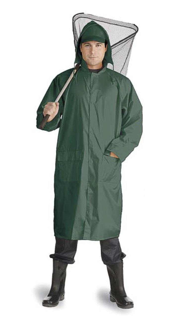 Плащ Рыбак нейлоновый зеленый (XL)Плащи<br>На воротнике карман на молнии для капюшона. <br>Швы проклеены изнутри.<br><br>Пол: мужской<br>Размер: XL<br>Сезон: демисезонный<br>Цвет: зеленый<br>Материал: текстиль