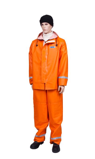 Костюм рыбака Fishermans WPLКостюмы неутепленные<br>Удобная конструкция: куртка с прочной застежкой <br>на молнии с дополнительным клапаном на <br>текстильной застежке (липуне). Полукомбинезон <br>с удобным карманом с клапаном и регулировкой <br>полноты. Рукава с налокотниками и манжетами, <br>наколенниками на брючинах. Все швы костюма <br>надежно загерметизированы специальной <br>лентой. Костюм снабжен светоотражающими <br>элементами, улучшающими видимость в темное <br>время. Ткань: костюм изготовлен из специальной <br>прочной ткани с ПВХ покрытием, вес ткани <br>500 гр. / кв. м. Водоупорность — не менее 10.000 <br>мм. вод. столба. Повышенные прочностные <br>характеристики. Очень высокие показатели <br>износостойкости. Ткань стойкая к действию <br>морской воды, рыбьего жира, нефтепродуктов. <br>Цвет: ярко-оранжевый. Ткань экологична и <br>соответствует Европейскому стандарту EN <br>71 PART3<br><br>Пол: мужской<br>Сезон: демисезонный<br>Цвет: оранжевый<br>Материал: Ткань Fishermans из синтетических нитей с