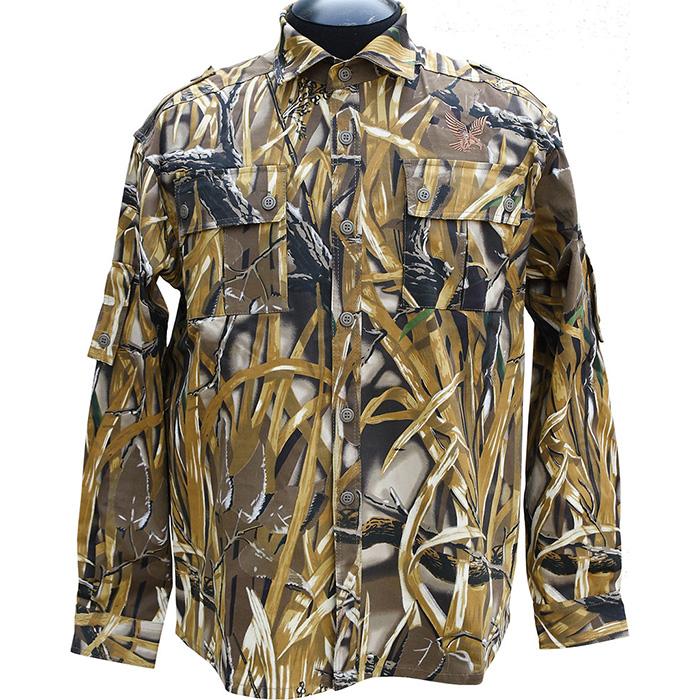 Рубашка ХСН Фазан (9486-3) (Камыш, 54/182-188, 9486-3)Рубашки д/рукав<br>Рубашка мужская подходит для ношения в <br>летний сезон. На рубашке есть накладные <br>карманы. Для защиты от влаги материал обработан <br>водоотталкивающей пропиткой. Комфортная <br>температура эксплуатации: от +20°С до +30°С.<br><br>Пол: мужской<br>Размер: 54/182-188<br>Сезон: лето<br>Цвет: коричневый<br>Материал: 100% хлопок
