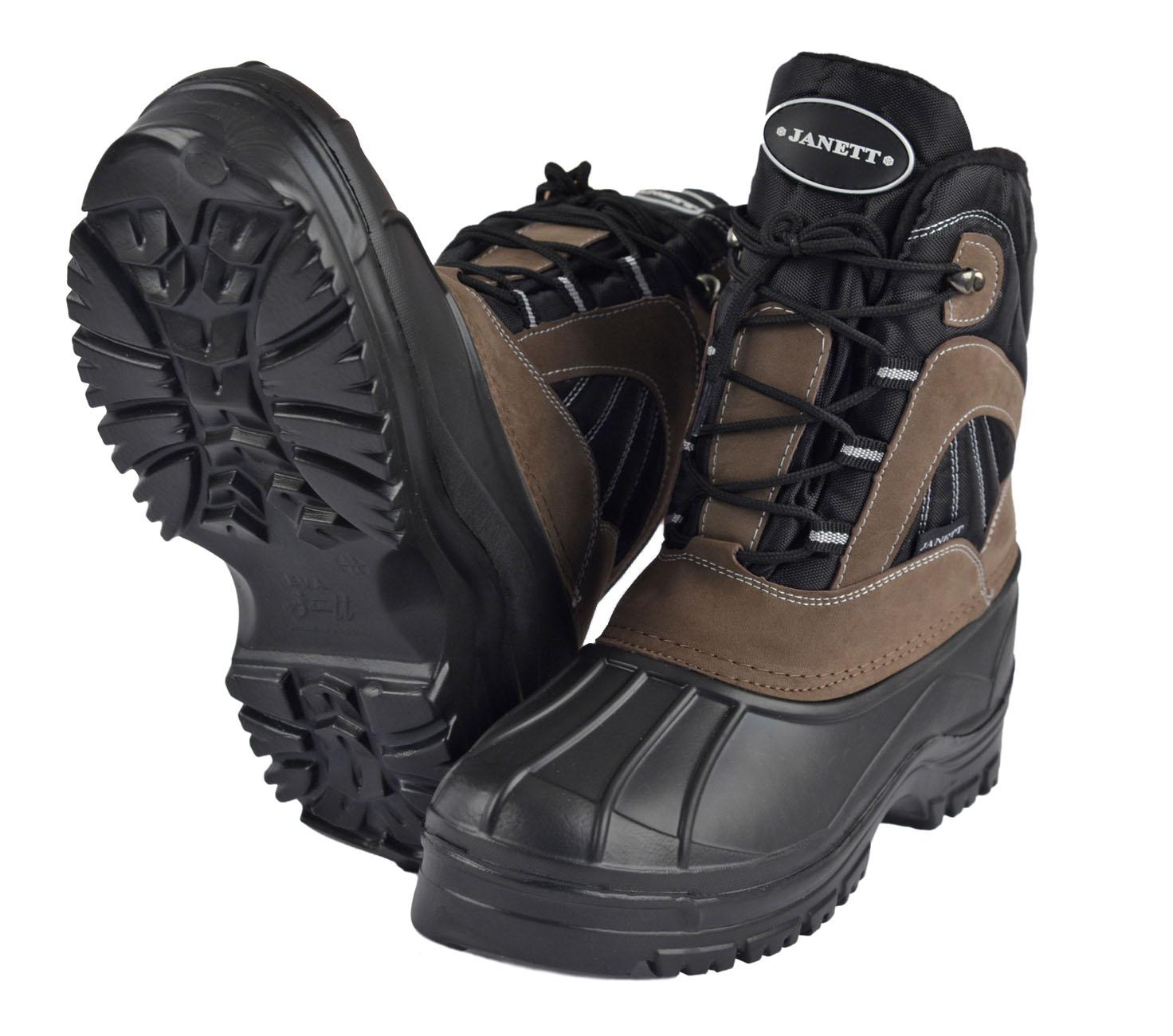 Боты мужские БАРС ЭВА, на шнуровке, черныеСапоги для активного отдыха<br>Боты мужские утепленные БАРС, предназначены <br>для длительного пребывания на морозе и <br>длительной ходьбы. Нижняя часть обуви изготовлена <br>из материала ЭВА. Подошва с глубоким протектором <br>эффективна против скольжения. Голенище <br>сапога выполнено из триплированного водоотталкивающего <br>материала- Оксфорд утепленного флисом и <br>место стыка галоши с голенищем и его верхняя <br>часть отделаны кожеными накладками.<br><br>Пол: мужской<br>Сезон: зима<br>Цвет: черный